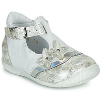 Shoes Girl Flat shoes GBB SELVINA White / Silver