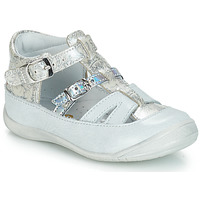 Shoes Girl Flat shoes GBB SARAH White / Silver