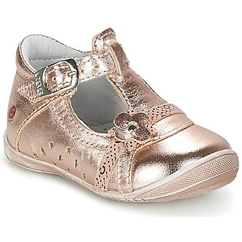 Shoes Girl Flat shoes GBB SIXTINE Pink / Gold