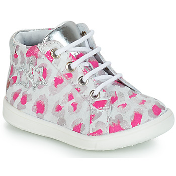 Shoes Girl Mid boots GBB SABBAH Grey / Pink / White