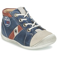 Shoes Boy Hi top trainers GBB SILVIO Marine / Brown