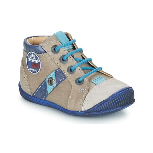 Shoes Boy Mid boots GBB SILVIO Beige / Blue