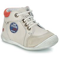 Shoes Boy Mid boots GBB SYLVESTRE Beige / Red