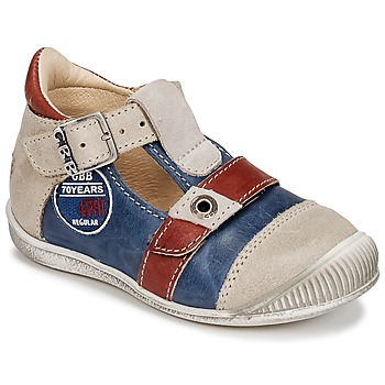 Shoes Boy Sandals GBB STANISLAS Marine / Beige / Red