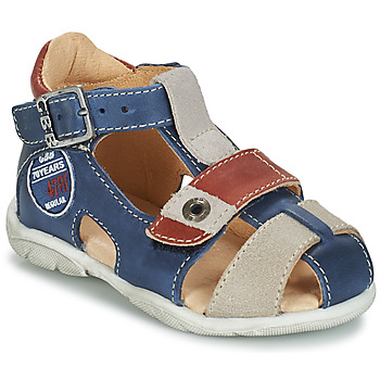 Shoes Boy Sandals GBB SULLIVAN Blue / Beige / Brown