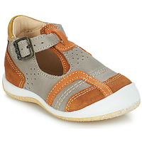 Shoes Boy Sandals GBB SIGMUND Taupe / Cognac