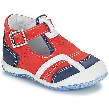 Shoes Boy Sandals GBB SIGMUND Red / Blue