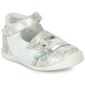 Shoes Girl Flat shoes GBB STACY White / Silver
