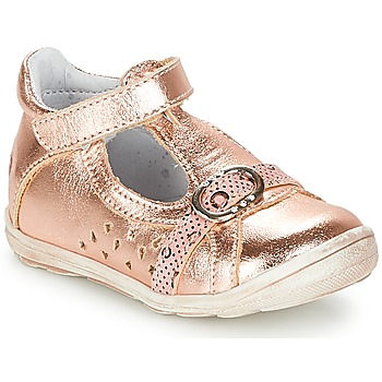Shoes Girl Flat shoes GBB SALOME Pink / Gold