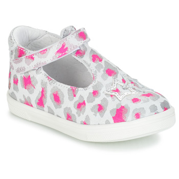 Shoes Girl Flat shoes GBB SABRINA Grey / Pink / White