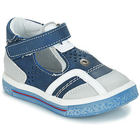 Shoes Boy Sandals GBB SALVADORE Blue / Grey
