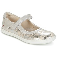 Shoes Girl Flat shoes GBB PLACIDA Vte / Silver-beige / Cuba