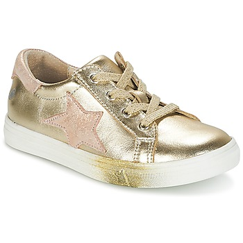 Shoes Girl Low top trainers GBB REBECCA Gold / Pink
