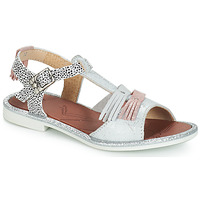 Shoes Girl Sandals GBB MARIA Silver / White