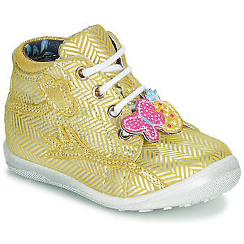 Shoes Girl Hi top trainers Catimini SALAMANDRE Yellow
