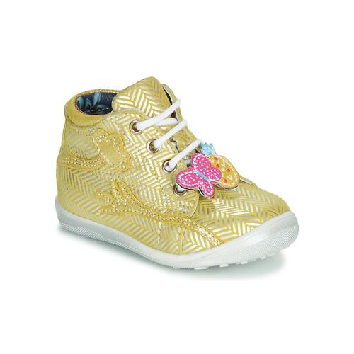 Shoes Girl Hi top trainers Catimini SALAMANDRE Yellow