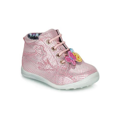 Shoes Girl Mid boots Catimini SALAMANDRE Pink