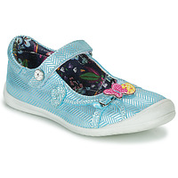 Shoes Girl Flat shoes Catimini SENTINELLE Blue / Silver