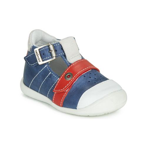 Shoes Boy Sandals Catimini SESAME Blue / Red