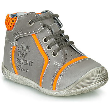 Shoes Boy Mid boots Catimini SEREVAL Grey / Orange