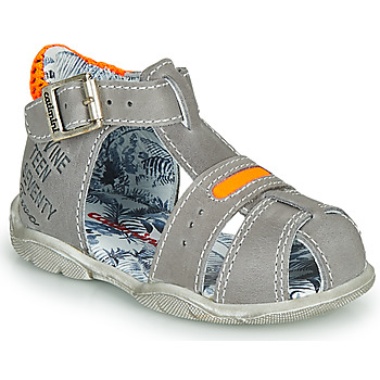Shoes Boy Sandals Catimini SPHINX Grey / Orange