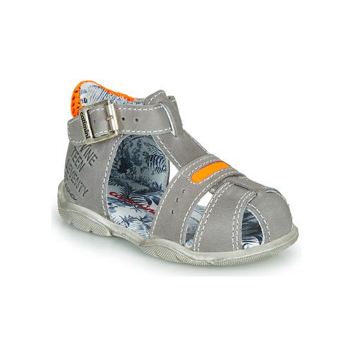 Shoes Boy Sandals Catimini SPHINX Grey / Orange