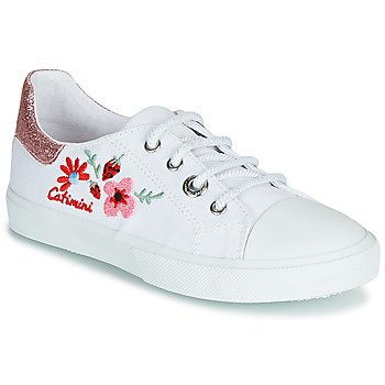 Shoes Girl Low top trainers Catimini SAXIFAGE White