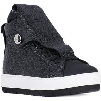 Shoes Women Hi top trainers Armani jeans SNEAKER Nero