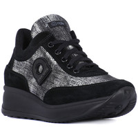 Shoes Women Low top trainers Rucoline RUCO LINE  NEW MICROCANVAS Nero