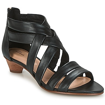 Shoes Women Sandals Clarks MENA SILK Black