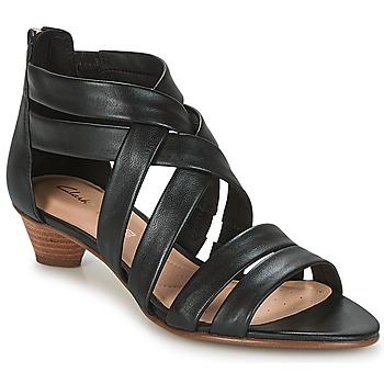Shoes Women Sandals Clarks MENA SILK  black / Leather