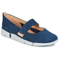 Shoes Women Flat shoes Clarks TRI CARRIE Navy / Nubuck