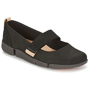 Shoes Women Flat shoes Clarks TRI CARRIE Black