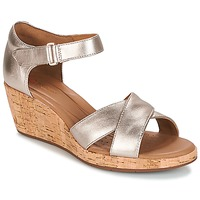 Shoes Women Sandals Clarks UN PLAZA CROSS Gold