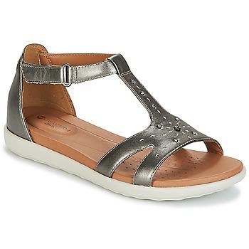 Shoes Women Sandals Clarks UN REISEL MARA Pewter / Metallic / Leather
