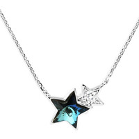 Watches Women Necklaces Fashionvictime Necklace For Women By  - Rhodium Plated Jewel- Crystals From Swa Bleu