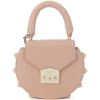 Bags Women Shoulder bags Salar Mimi Nude leather handbag with studs Pink