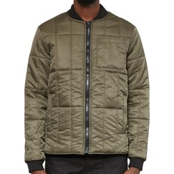 Clothing Men Jackets / Blazers The Idle Man High Shine Quilted Bomber Green Green