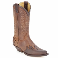 Shoes High boots Sendra boots DAVIS Brown
