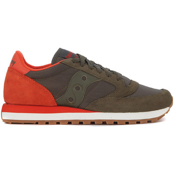 Shoes Men Low top trainers Saucony Sneaker  Jazz in suede e nylon Green