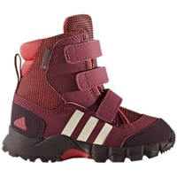 Shoes Children Snow boots adidas Originals Holtanna Snow CF PL I Burgundy-Pink-White