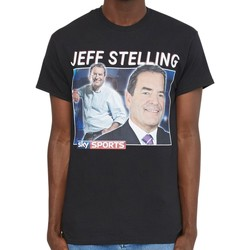 Clothing Men short-sleeved t-shirts Homage Tees Jeff Stelling T-Shirt Black Black