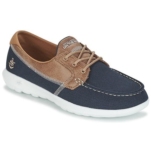 Shoes Women Boat shoes Skechers GO WALK LITE Marine