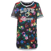 Clothing Women Short Dresses Love Moschino W5A0302 Black / Multicoloured