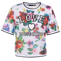 Clothing Women Tops / Blouses Love Moschino W4G2801 White / Multicolour
