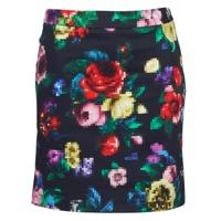 Clothing Women Skirts Love Moschino WGC7100 Black / Multicoloured