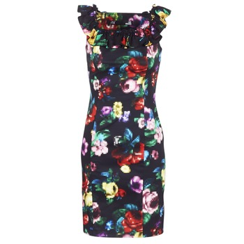 Clothing Women Short Dresses Love Moschino WVG3100 Black / Multicolour