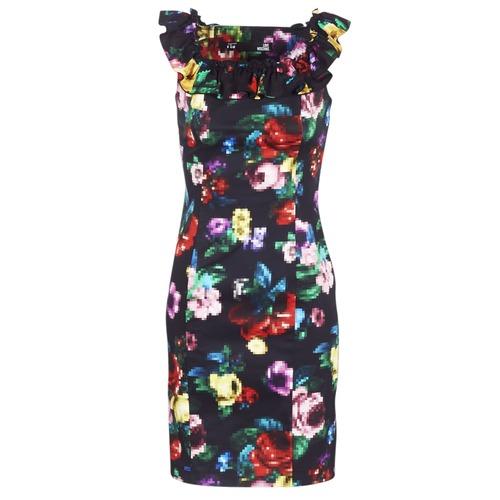Clothing Women Short Dresses Love Moschino WVG3100 Black / Multicolour