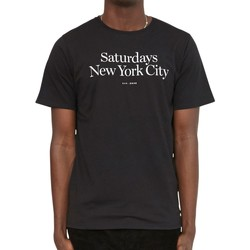 Clothing Men short-sleeved t-shirts Saturdays Nyc Miller Standard T-Shirt Black Black
