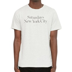 Clothing Men short-sleeved t-shirts Saturdays Nyc Miller Standard T-Shirt Off White Beige